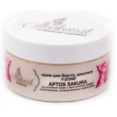 Крем для бюста, декольте Y-ZONE APTOS SAKURA на розовой воде с протеинами мидий для омоложения и выравнивания цвета кожи Шоконат