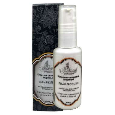 Крем-гель сезамовый защитный SESAM PROTECTIVE для нормального и жирного типа кожи с экстрактом мякоти дыни и хлопка Шоконат